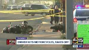 Motorcyclists struck by hit-and-run driver [Video]