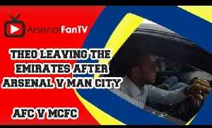 Theo Walcott Leaving The Emirates after Arsenal 2 Man City 2 [Video]