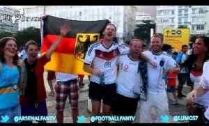 World Cup Diary Of Brazil - German Fans chanting Before Ghana Game [Video]