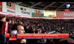 Arsenal V Cardiff 3-0 Fans Chant For Pat Rice & All Goal Celebration [Video]