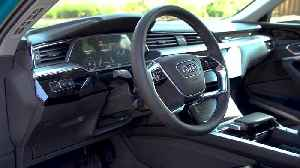 Audi e-tron Interior Design in Antigua Blue [Video]