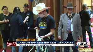 Cowboys pair up with kids diagnosed with life-threatening cancer in Las Vegas [Video]