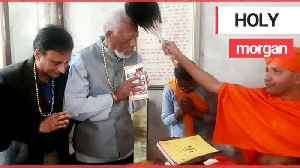 Morgan Freeman is blessed by a holy man in Nepal [Video]