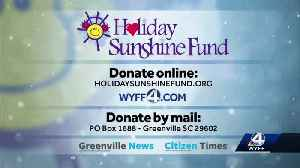 Holiday sunshine fund kicks off, how you can help [Video]