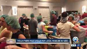 Volunteers pack 80,000 meals for families in need [Video]