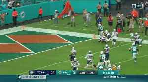 News video: Miracle In Miami Gardens: Kenyan Drake Scores To Give Dolphins Win Over New England