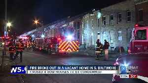 Two Alarm Fire Causes 4 row homes to be condemned [Video]
