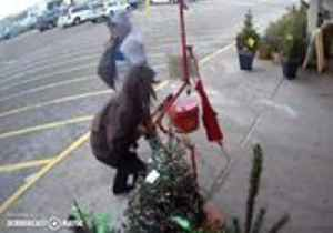 'Grinches' Caught on Camera Stealing Salvation Army Donation Kettle in Minnesota [Video]