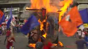Activists protest Duterte's planned extension of martial law in southern Philippines [Video]