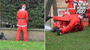 London's SantaCon is a drunken mess of public brawling and peeing [Video]