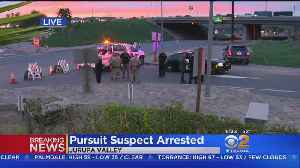Suspect In Car Chase, Officer-Involved Shooting Taken Into Custody [Video]