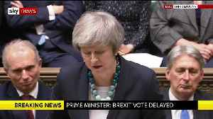 In full: Theresa May delays the vote on her Brexit deal [Video]
