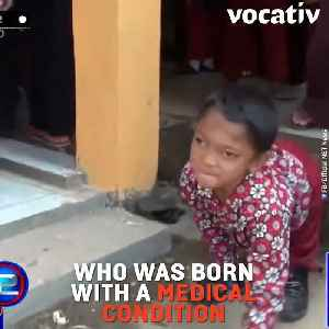 Disabled Boy Travels Two miles To School Every Day on Hands and Feet [Video]