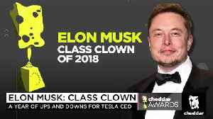 Cheddar Awards: Elon Musk Is 2018's Class Clown [Video]