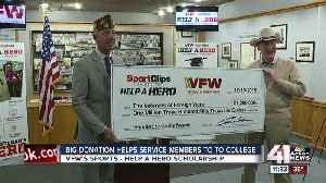 Big donation will help vets go back to school [Video]