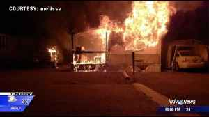 One person with minor burns after Airway Heights mobile home fire [Video]