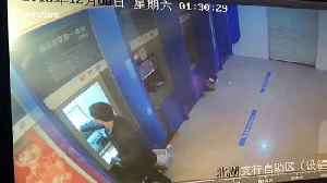 Alleged drunk man destroys ATM machines after bank card was swallowed [Video]
