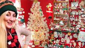 Christmas-Obsessed Woman Keeps Up Decorations All Year Round [Video]