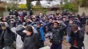 Le Mans - France 300 high school students demonstrated in the streets of downtown [Video]