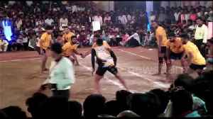 Several injured after stage collapses during kabaddi match in central India [Video]