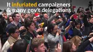 Protesters disrupt U.S.-sponsored fossil fuel event at climate talks [Video]