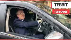 Lord Tebbit was stopped by police after 'running over foot' of tourist outside Parliament [Video]
