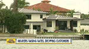 Florida insurers raising rates, dropping customers [Video]