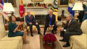 Trump spars with Pelosi, Schumer in Oval Office [Video]