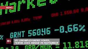 November Unemployment Holds, But Less New Jobs [Video]