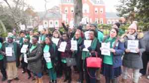 AFSCME protesters break into song outside Government House in Annapolis [Video]