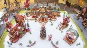 Valencia College culinary arts department builds intricate gingerbread village