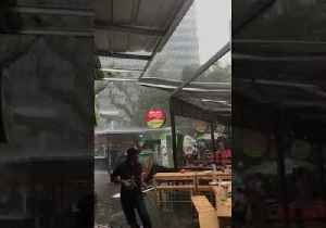 Diners Flee as Strong Wind Tears Roof Off Restaurant in Jakarta [Video]