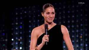 Right Now: Meghan Markle presents British Designer of the Year, Womenswear award to Givenchy's Clare Waight Keller [Video]