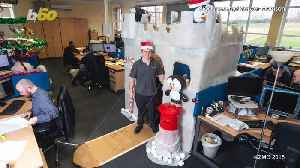 A Man Turns His Work Desk Into A Winter Wonderland [Video]