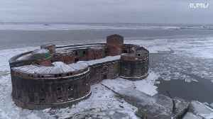 Drone captures chilling footage of Saint Petersburg's 'PLAGUE FORT' [Video]