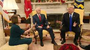 Raw Video: Trump Meeting With Pelosi, Schumer Becomes Heated [Video]