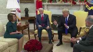 News video: President Trump Meets With Nancy Pelosi and Chuck Schumer at the Oval Office