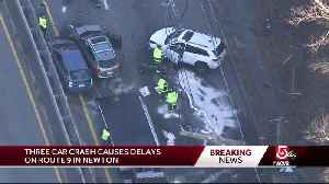 3-car crash leads to traffic mess on Route 9 [Video]