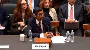 News video: Google's CEO Pichai To Steve King: 'iPhone Is Made By A Different Company'