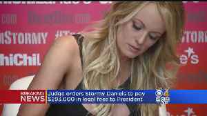 Judge Orders Stormy Daniels To Pay $293,000 In Legal Fees To President Trump [Video]