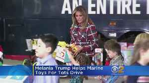First Lady Helps With Marine Toys-For-Tots Drive [Video]