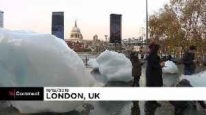Ice block art glimmers in London to warn against climate change [Video]
