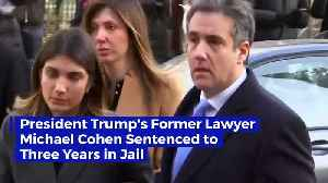 President Trump's Former Lawyer Michael Cohen Sentenced to Three Years in Jail [Video]