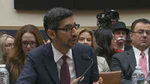 News video: Google CEO Sundar Pichai grilled by lawmakers on data privacy and political bias