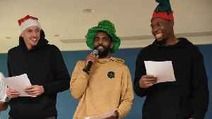Kyrie Irving And The Celtics Spread Holiday Cheer To Sick Children [Video]