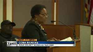 Polk County teacher asks school board to join the fight against state teacher test [Video]