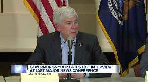 Governor Snyder talks about lame ducks, accomplishments over 8 years, Flint [Video]