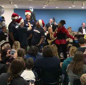 Pats and Pops perform at Children's Hospital [Video]