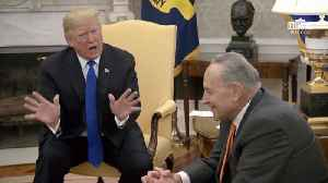 Trump Openly Fights With Nancy Pelosi And Chuck Schumer Over Border Security [Video]
