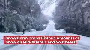 Wow: Huge Snow Storm Across The Mid Atlantic And Southeast [Video]